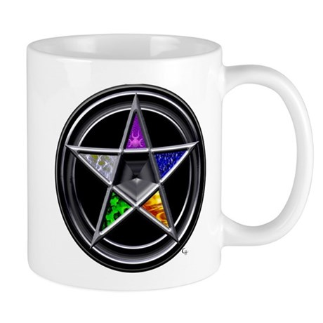 Pewter Element Pentacle Mug