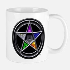 Pewter Element Pentacle Mug