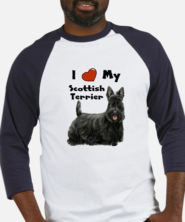 I Love My Scottish Terrier Baseball Jersey
