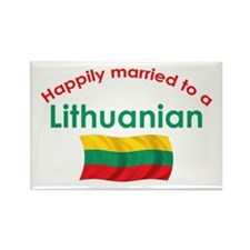 Happily Married Lithuanian 2 Rectangle Magnet