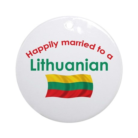 Happily Married Lithuanian 2 Ornament (Round)