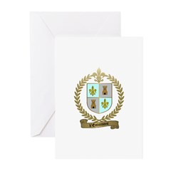 d'ENTREMONT Family Crest Greeting Cards (Package o