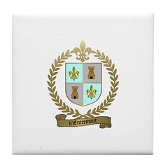 d'ENTREMONT Family Crest Tile Coaster