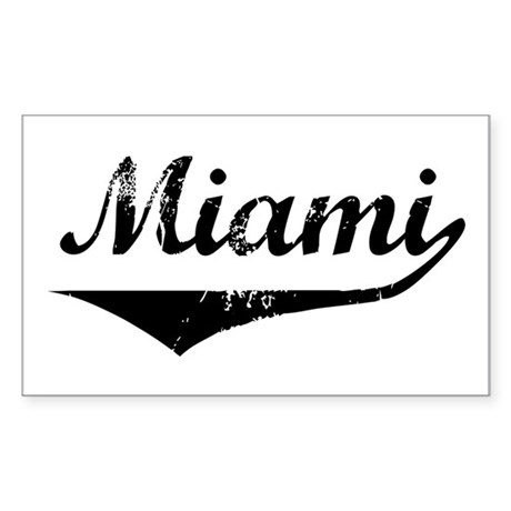 Miami Rectangle Sticker