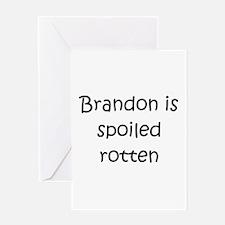 Cute Brandon Greeting Card