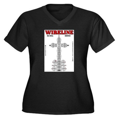 Wireline Oil Well Service Women's Plus Size V-Neck