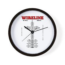 Wireline Oil Well Service Wall Clock