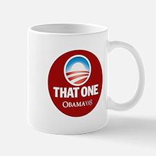 Obama THAT ONE 08 Sig Red Mug