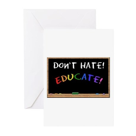 Don't Hate Educate Greeting Cards (Pk of 10)