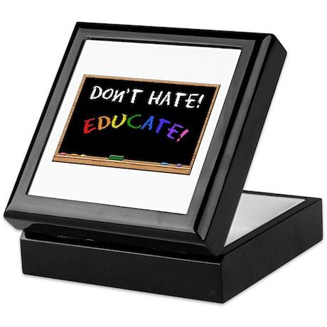 Don't Hate Educate Keepsake Box