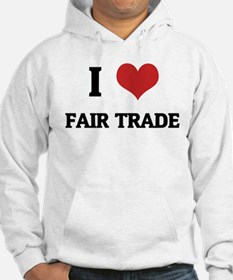 I Love Fair Trade Jumper Hoody