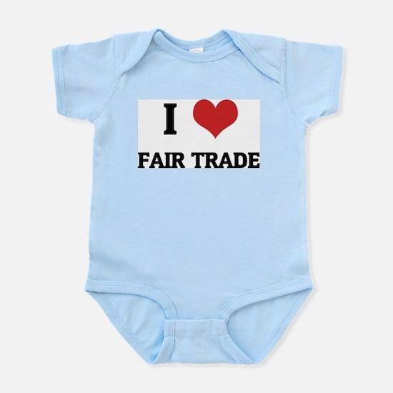 I Love Fair Trade Infant Creeper