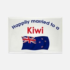 Happily Married Kiwi Rectangle Magnet