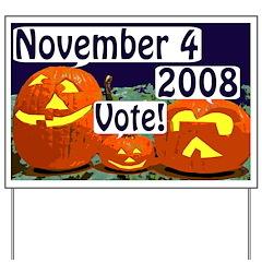 Halloween Pumpkins: Vote! Yard Sign