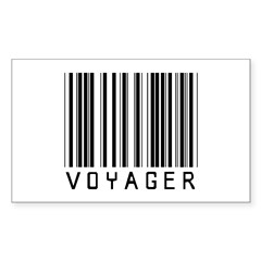 Voyager Barcode Rectangle Sticker 10 pk)