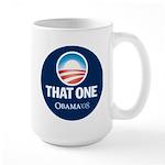 Obama THAT ONE 08 Sig Blue Large Mug
