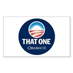 Obama THAT ONE 08 Sig Blue Rectangle Sticker 50 p