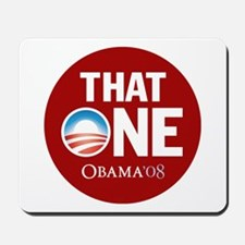 Obama THAT ONE Sig Red Mousepad