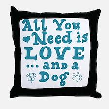Cute Dog is good Throw Pillow