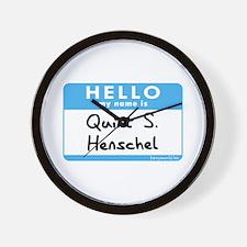 Quint S. Henschel Wall Clock
