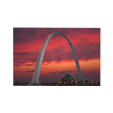 Gateway Arch - Rectangle Magnet