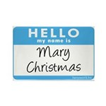 Mary Christmas Rectangle Magnet (10 pack)