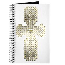 Engraved Gold Celtic Cross Journal