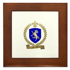 DENEAU Family Crest Framed Tile
