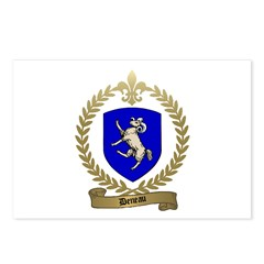 DENEAU Family Crest Postcards (Package of 8)