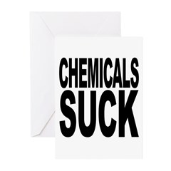 Chemicals Suck Greeting Cards (Pk of 20)