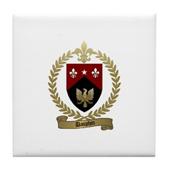 DAUPHIN Family Crest Tile Coaster