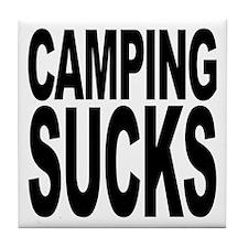 Camping Sucks Tile Coaster