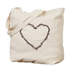 Barbed Wired Heart Tote Bag