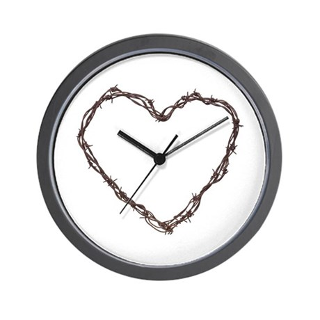 Barbed Wired Heart Wall Clock