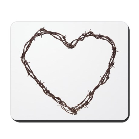 Barbed Wired Heart Mousepad