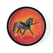 Akhal-Teke Absent Wall Clock