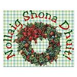 Gaelic Christmas Wreath Unframed Print