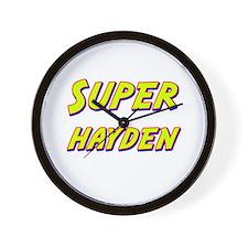 Super hayden Wall Clock