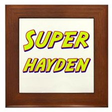 Super hayden Framed Tile