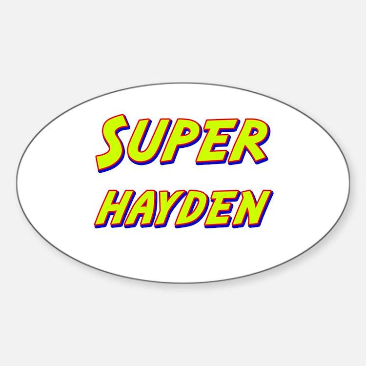 Super hayden Oval Decal