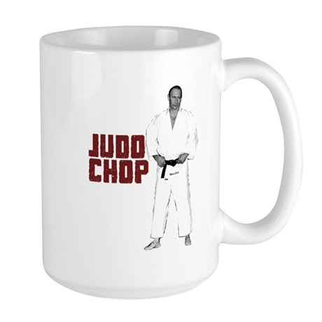 Vladimir Putin Judo Chop Large Mug