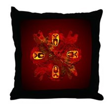 Tribal Cats Throw Pillow