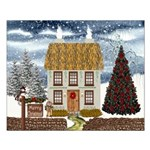 Merry Christmas Cottage Unframed Print