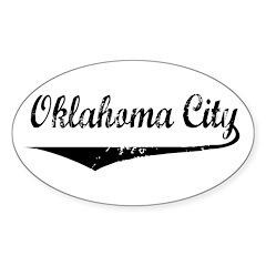 Oklahoma City Oval Decal