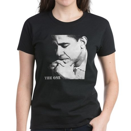 Barack Obama: THE ONE - Women's Dark T-Shirt