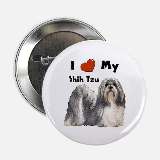 "I Love My Shih Tzu 2.25"" Button"