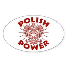 Polish Power Oval Stickers
