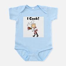 Male Chef I Cook Infant Bodysuit