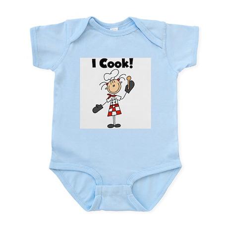 Female Chef I Cook Infant Bodysuit