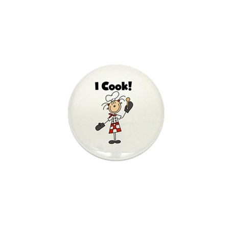 Female Chef I Cook Mini Button (10 pack)